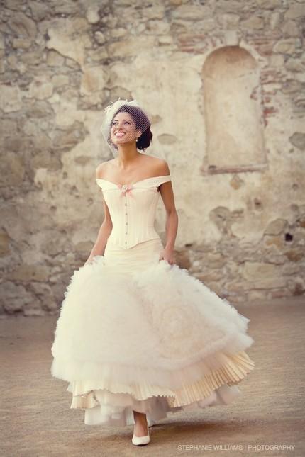 Joan-shum-made-to-order-wedding-dresses-vintage-vibe-off-the-shoulder.full