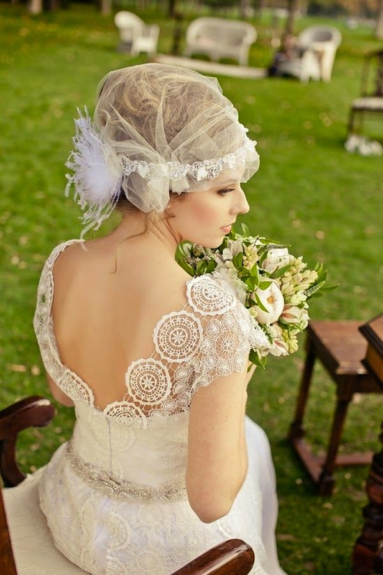 Sheer Juliet Cap