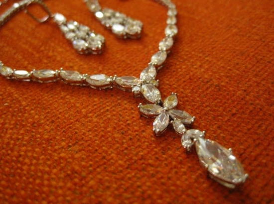 Stunning vintage bridal jewelry set by Givenchy