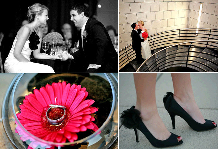 Hot-pink-black-white-downtown-chicago-wedding-flowers-diamond-engagement-rings.full