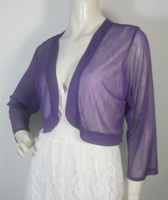 Purple Chiffon Bolero Jacket