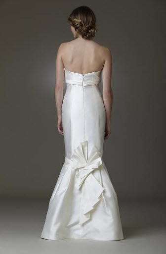Origami wedding dress by Amy Kuschel- back