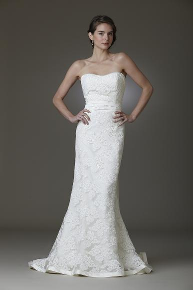 Amy Kuschel strapless lace wedding dress with mermaid silhouette- Kennedy