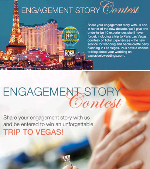 Engagement Story contest from Exclusively Weddings- win a trip to Vegas!