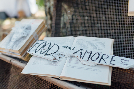 DIY Signs Throughout Wedding
