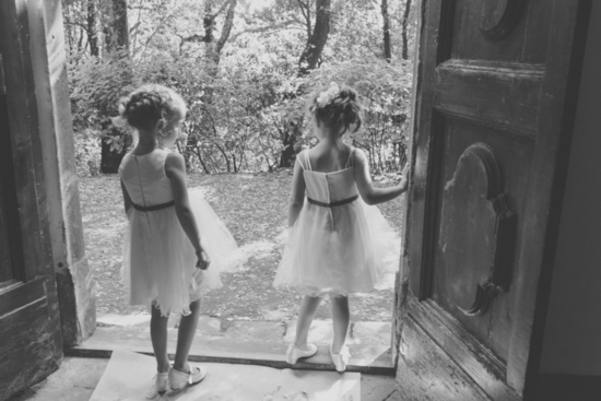 Adorable Flower Girls Black and White