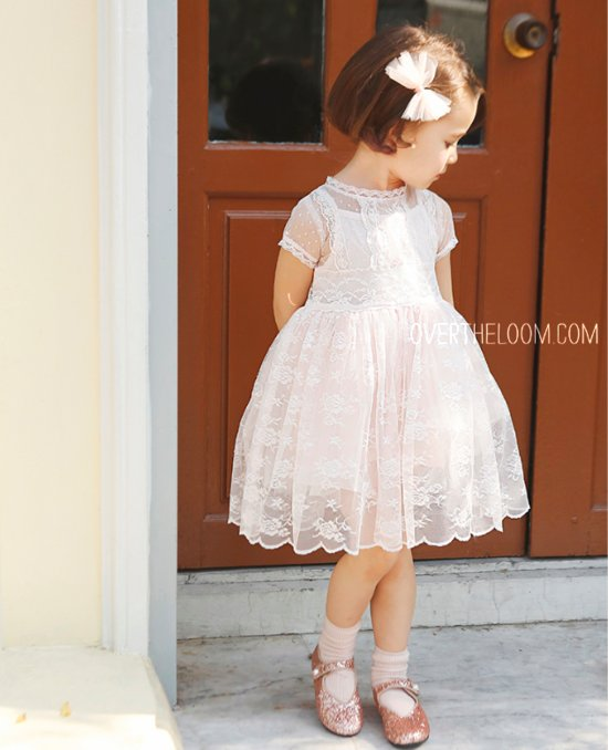 Amber Lace Chocolat Dress Pink