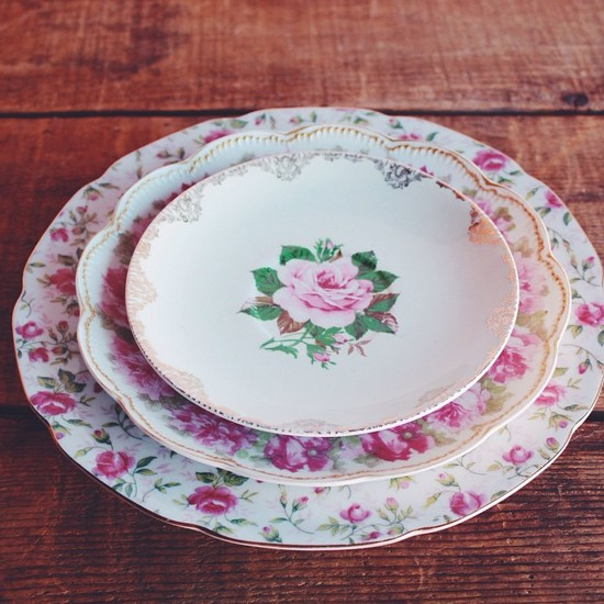 Otis + Pearl Vintage Rentals Rose Collection China