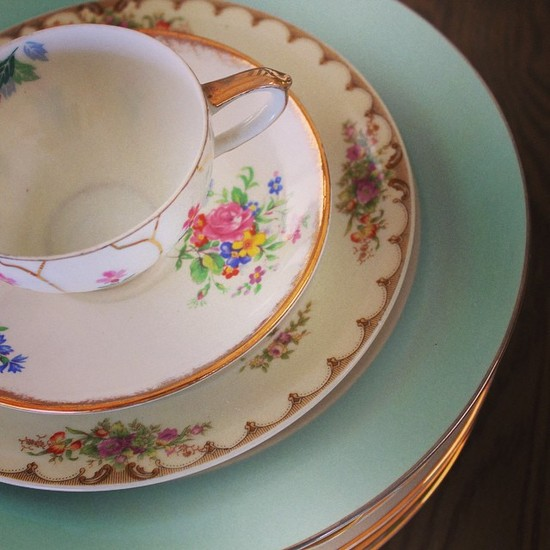 Otis + Pearl Vintage China
