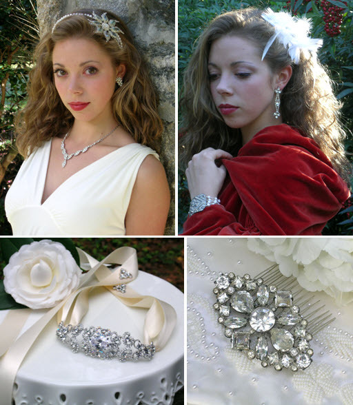 Stunning one-of-a-kind vintage bridal accessories!