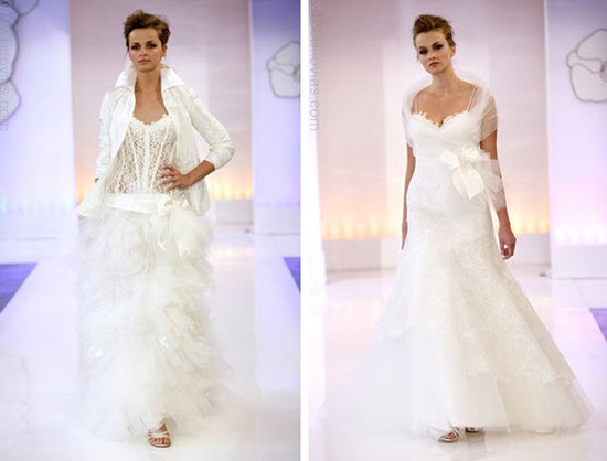 Cymbeline Paris' runway show: featuring 2010 wedding dresses
