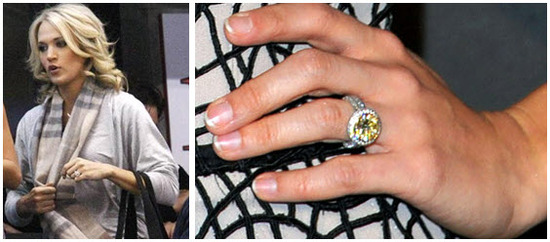 Carrie Underwood's stunning 5+ carat yellow diamond engagement ring