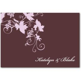 This wine colored thank you note with pink flowers shows what a thank you note SHOULD look like.