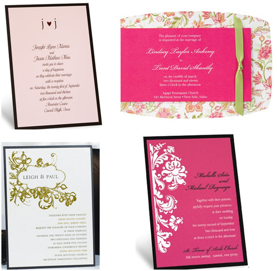 Damask, floral and monogram layered wedding invitations from Jean M