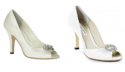 Go chic and elegant with these Benjamin Adams peep toe bridal heels