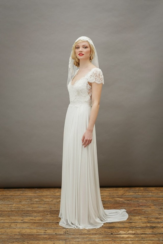 A Beautiful Dress with A Juliet Cap Veil