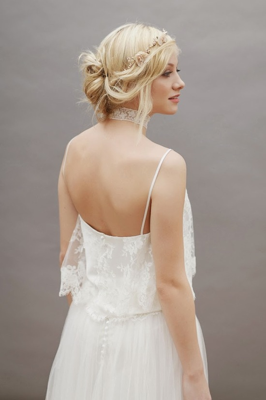 Lovely Bridal Hair and Dress