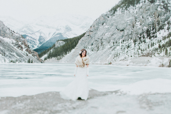 photo of A Serene Wedding Within Snow Covered Mountains