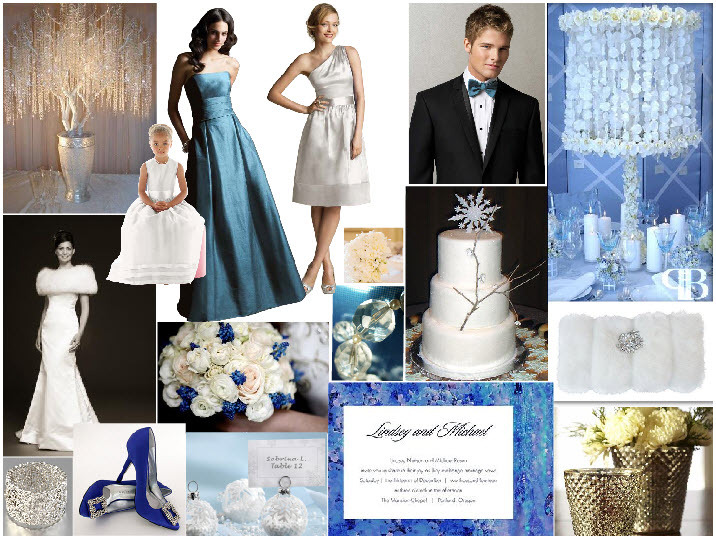 white, icy blue, and shimmery silver- perfect color combination ...