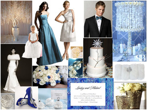 photo of Dessy Style Board Challenge: Winter Wonderland Wedding Inspiration!