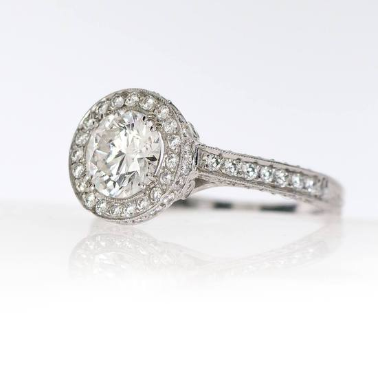 Vintage Style Engagement ring available at Soho Gem Fine Jewelry Boutique