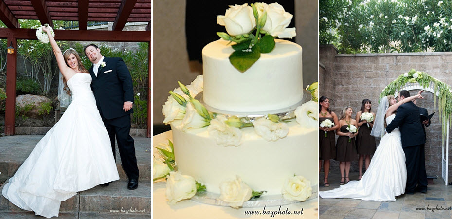 Bride-groom-become-husband-and-wife-simple-white-two-tier-wedding-cake-white-ivory-roses.full