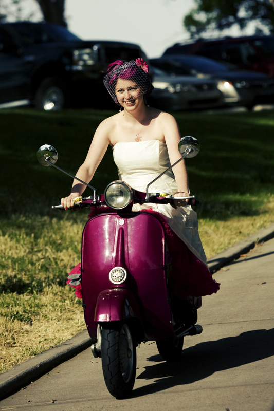 Perhaps after the wedding would be a good time for an alternative bride with pink hair to make a get