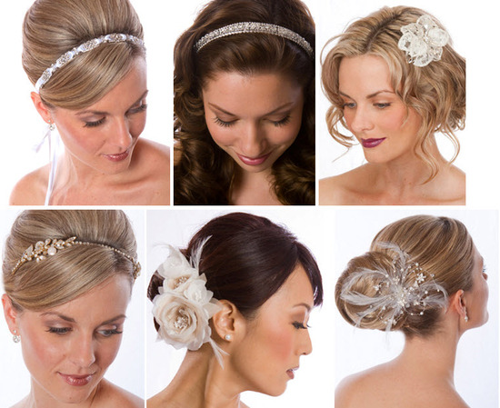 Bridal headbands, flowers and more from Hair Comes The Bride