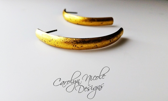 24k Gold and Fine Silver Earrings by Carolyn Nicole Designs (2)