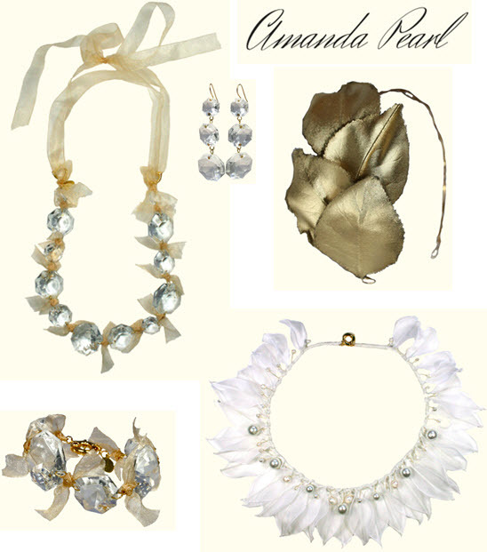 Stunning bridal jewelry pieces from Amanda Pearl with a vintage feel