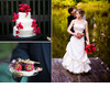 White-three-tier-wedding-cake-adorned-with-hot-pink-flowers-bride-in-ivory-strapless-wedding-dress.square
