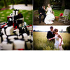 Black-white-red-favor-boxes-hot-pink-red-bridal-bouquet-groom-leads-beautiful-bride-through-field.square