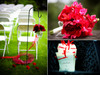 Hot-pink-red-maroon-bridal-bouquet-black-white-red-wedding-programs-chic-outdoor-wedding.square
