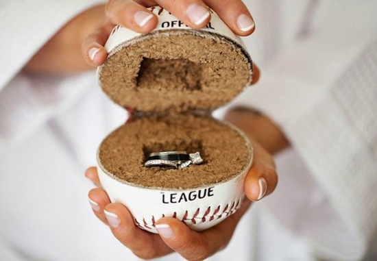 Baseball Themed Ring Holder