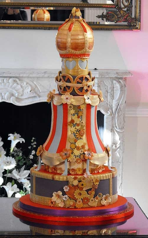photo of Steampunk Wedding Cake Theme