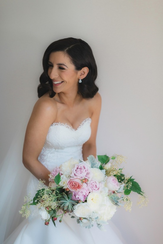 A Beautiful Bride with Her Bouquet