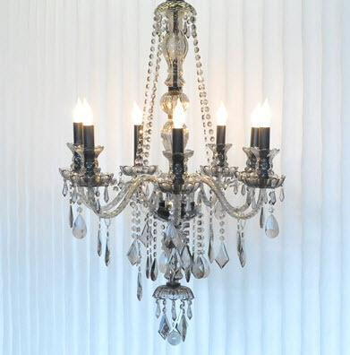 Gorgeous chic and modern smokey grey chandelier