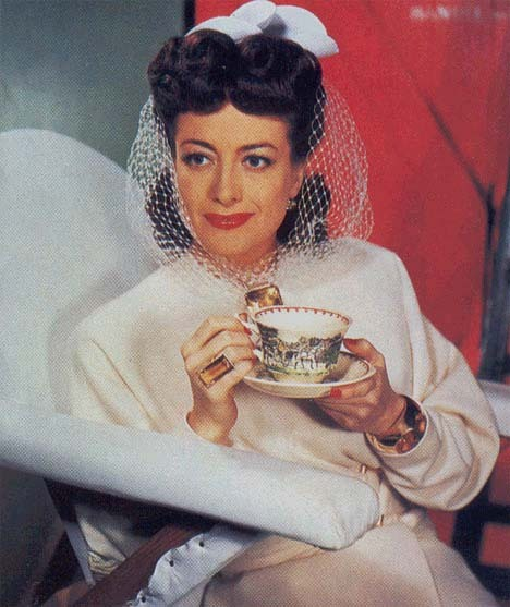 White net bow bridal headpiece, worn by Joan Crawford in When Ladies Meet