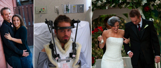 A couple devastated by a car accident, made it through and walked down the aisle as planned!