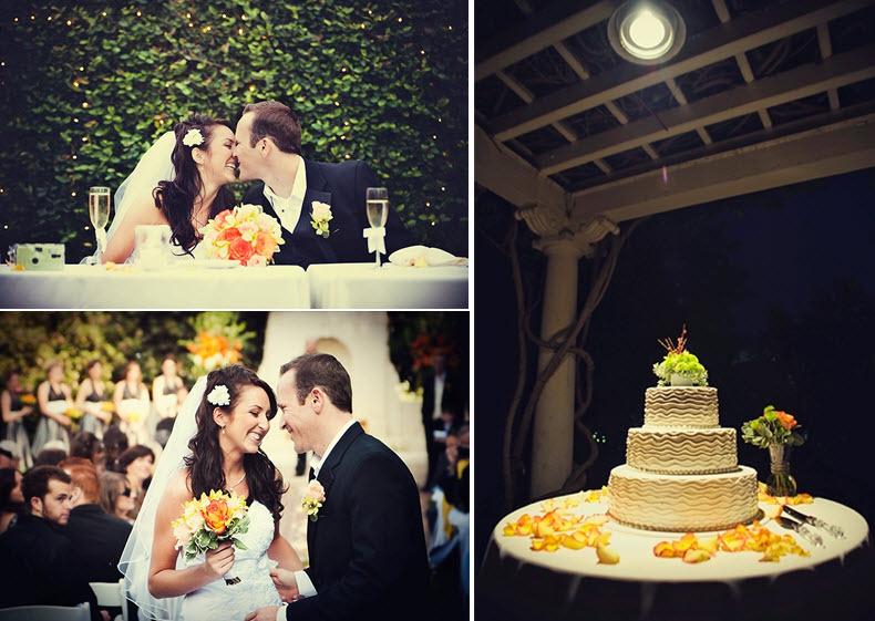 Ivory-three-tier-chic-modern-wedding-cake-orange-yellow-lime-green-flowers.full