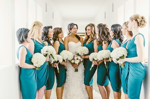 monterey beach wedding bridal party