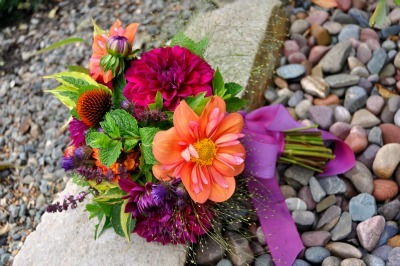 Purple and Orange Bouquet 400