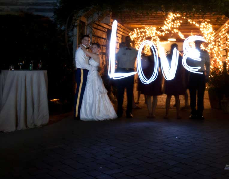 Love shot - painting with light at Fearington Village BArn