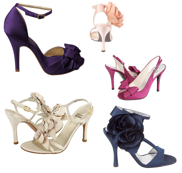 Express your sassy side with colorful bridal heels from Nina and Stuart Weitzman
