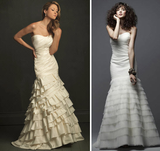 Gorgeous drop waist mermaid wedding dresses- get the look for less!