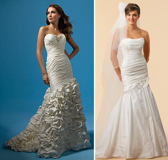 Alfred Angelo and Watters wedding dresses- similar to Khloe Kardashian's Vera Wang number