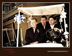 photo of Bubbly Bride: Golfing Groomsmen