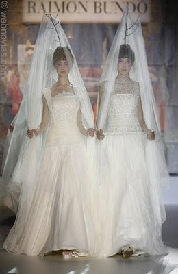 These elaborate white wedding veils are not meant for everyone.