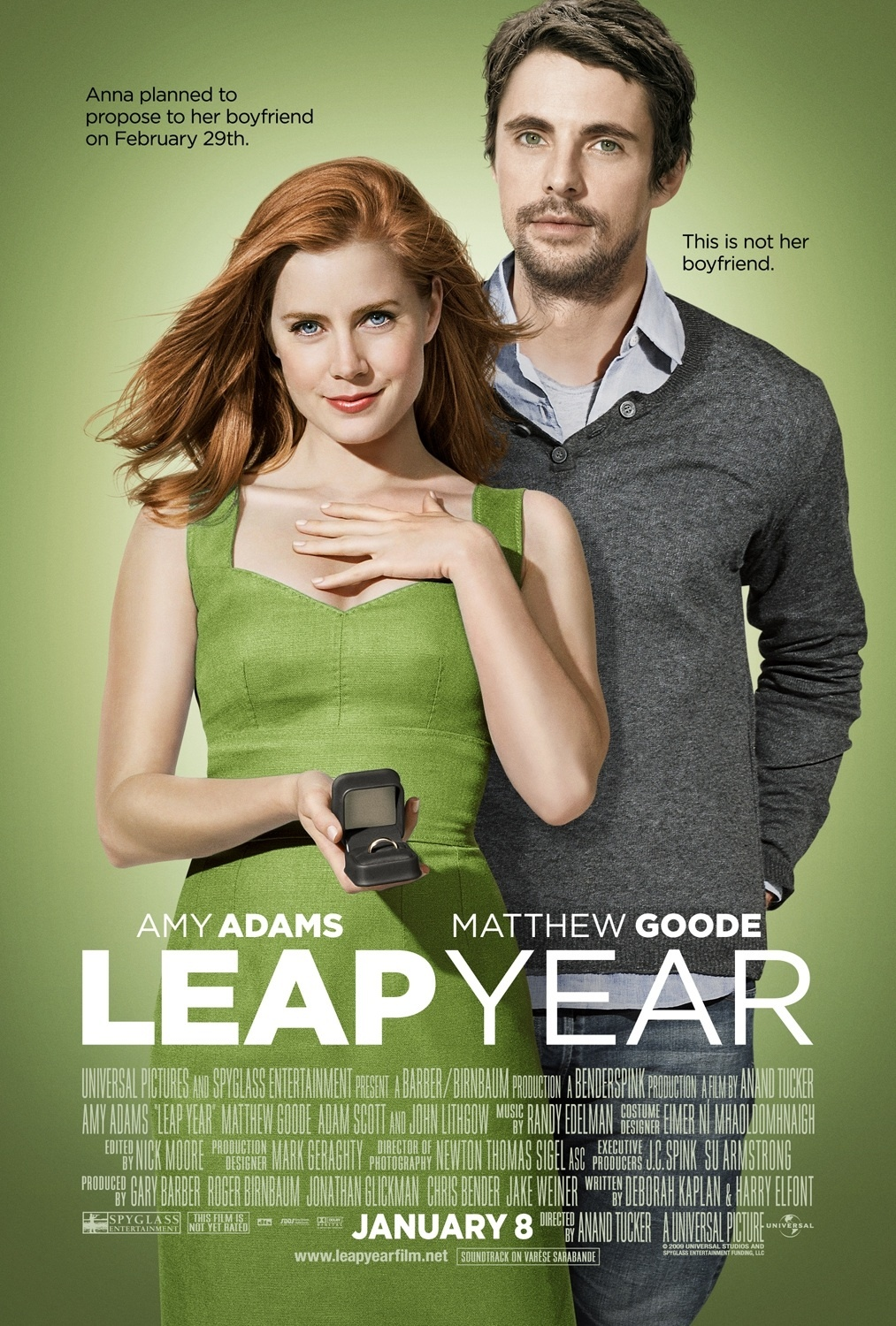 Amy Adams looks beautiful in this poster from the movie Leap Year.