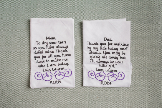 Handkerchiefs for mom and dad